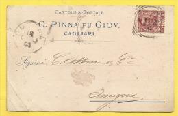 G. Pinna Fu Giov. - Cagliari - 1903 - Piccolo Formato - Viaggiata - Werbepostkarten