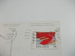 STORIA POSTALE FRANCOBOLLO COMMEMORATIVO ISLANDA TRAMONTO REYKJAVIK SOLARLAG ISLAND - Islanda