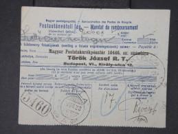 HONGRIE-Mandat De 1923     A Voir   P4453 - Marcophilie