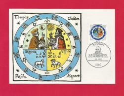 BRD 1982  Mi.Nr. 1155 , Gregorianischer Kalender - Hagenbach Maximum Karte - 14.10.1982 - Astrologie