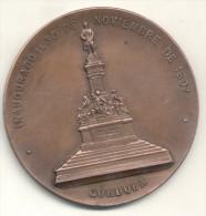 MONUMENTO A DALMACIO VELEZ SARSFIELD CORDOBA INAUGURADO EL 30 DE NOVIEMBRE DE 1897 SUS CONCIUDADANOS AL AUTOR DEL CODIGO - Tokens & Medals