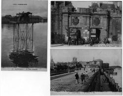 Saint Malo Ille Vilaine Lot 3 Cpa Pont Roulant Sillon Porte St Vincent 1910 état Superbe - Saint Malo