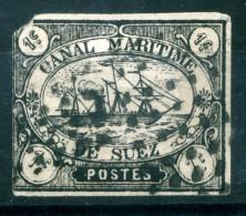 1868 EGITTO CANALE DI SUEZ NUMERO 1 USATO ALTO VALORE DI CATALOGO NON COMUNE - Egitto
