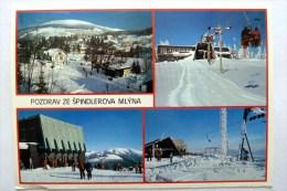 Spindler Mühle Spindlerun Mlyn - Riesengebirge Krkonose - Tschechien, AK 1989 Gelaufen - Tchéquie