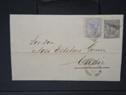 ESPAGNE - Lettre 1874 Avec Timbre - Impôts De Guerre - Détaillons Collection - A Voir - Lot N° 6157 - 1873 1. Republik