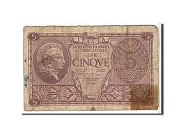 Italie, 5 Lire Type 1944 - [ 1] …-1946 : Kingdom