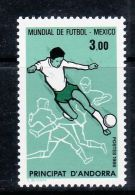 FRENCH ANDORRA 1986 WORLD CUP MEXICO MNH - 1986 – Mexico