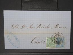 ESPAGNE - Lettre 1874 Avec Timbre - Impôts De Guerre - Détaillons Collection - A Voir - Lot N° 6161 - 1873 1. Republik