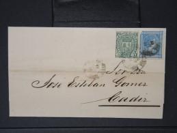 ESPAGNE - Lettre 1874 Avec Timbre - Impôts De Guerre - Détaillons Collection - A Voir - Lot N° 6163 - 1873 1. Republik