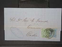 ESPAGNE - Lettre 1874 Avec Timbre - Impôts De Guerre - Détaillons Collection - A Voir - Lot N° 6164 - 1873 1. Republik