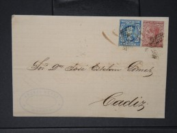 ESPAGNE - Lettre 1874 Avec Timbre - Impôts De Guerre - Détaillons Collection - A Voir - Lot N° 6165 - 1873 1. Republik