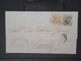 ESPAGNE - Lettre 1874 Avec Timbre - Impôts De Guerre - Détaillons Collection - A Voir - Lot N° 6166 - 1873 1. Republik