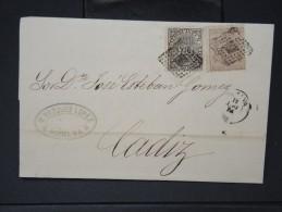 ESPAGNE - Lettre 1874 Avec Timbre - Impôts De Guerre - Détaillons Collection - A Voir - Lot N° 6167 - 1873 1. Republik
