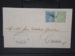 ESPAGNE - Lettre 1874 Avec Timbre - Impôts De Guerre - Détaillons Collection - A Voir - Lot N° 6170 - 1873 1. Republik