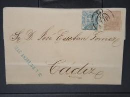 ESPAGNE - Lettre 1874 Avec Timbre - Impôts De Guerre - Détaillons Collection - A Voir - Lot N° 6171 - 1873 1. Republik