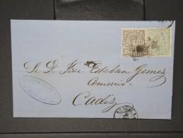 ESPAGNE - Lettre 1874 Avec Timbre - Impôts De Guerre - Détaillons Collection - A Voir - Lot N° 6172 - 1873 1. Republik
