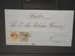 ESPAGNE - Lettre 1874 Avec Timbre - Impôts De Guerre - Détaillons Collection - A Voir - Lot N° 6173 - 1873 1. Republik