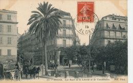 AFRIQUE - ALGERIE - ALGER - Les Rues De La Liberté Et De Constantine - Alger
