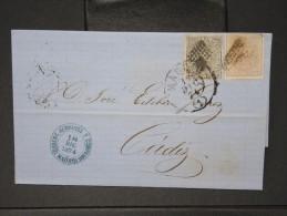 ESPAGNE - Lettre 1874 Avec Timbre - Impôts De Guerre - Détaillons Collection - A Voir - Lot N° 6174 - 1873 1. Republik