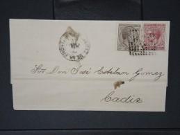 ESPAGNE - Lettre 1874 Avec Timbre - Impôts De Guerre - Détaillons Collection - A Voir - Lot N° 6175 - 1873 1. Republik