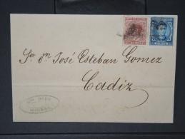 ESPAGNE - Lettre 1874 Avec Timbre - Impôts De Guerre - Détaillons Collection - A Voir - Lot N° 6176 - 1873 1. Republik
