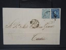 ESPAGNE - Lettre 1874 Avec Timbre - Impôts De Guerre - Détaillons Collection - A Voir - Lot N° 6177 - 1873 1. Republik