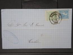 ESPAGNE - Lettre 1874 Avec Timbre - Impôts De Guerre - Détaillons Collection - A Voir - Lot N° 6178 - 1873 1. Republik