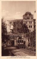 Cpa (74) Evian-les-bains Le Funiculaire Et Hotel  Splendide  (carte Sepia ) - Evian-les-Bains