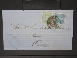 ESPAGNE - Lettre 1874 Avec Timbre - Impôts De Guerre - Détaillons Collection - A Voir - Lot N° 6179 - 1873 1. Republik
