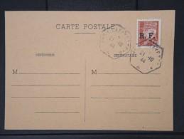 FRANCE- Type Petain Avec Surcharge De Lyon Sur Carte 1944  A  VOIR P4490 - Liberation