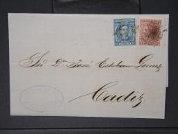 ESPAGNE - Lettre 1874 Avec Timbre - Impôts De Guerre - Détaillons Collection - A Voir - Lot N° 6183 - 1873 1. Republik