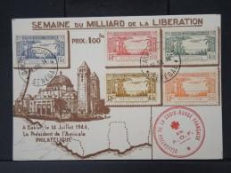 FRANCE- MAURITANIE - Serie P.A. 1/5 Sur Carte Philatelique Obl De Dakar  En 1944   A  VOIR P4491 - Mauritanien (1906-1944)