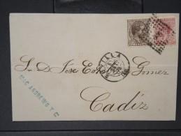 ESPAGNE - Lettre 1874 Avec Timbre - Impôts De Guerre - Détaillons Collection - A Voir - Lot N° 6184 - 1873 1. Republik