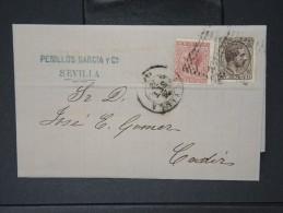 ESPAGNE - Lettre 1874 Avec Timbre - Impôts De Guerre - Détaillons Collection - A Voir - Lot N° 6185 - 1873 1. Republik