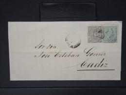 ESPAGNE - Lettre 1874 Avec Timbre - Impôts De Guerre - Détaillons Collection - A Voir - Lot N° 6187 - 1873 1. Republik