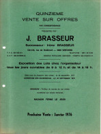 Publicité - Vente Sur Offres J. Brasseur - Verviers - 1975 - Timbres