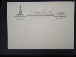 Enveloppe +papier A Lettre A Entete Du GRABEN HOTEL A Vienne  Non Servi   A Voir LOT P4508 - Publicités