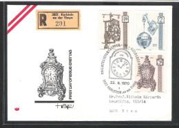 Österreich ANK 1358 -1960 Alte Uhren Karlstein Satzbrief Reco FDC Ersttag 1970 - FDC