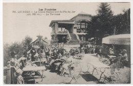 LOURDES - Le Grand Restaurant Du Pic Du Jer - La Terrasse  (77582) - Lourdes