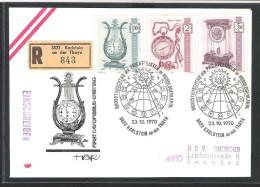 Österreich ANK 1374 - 1376 Alte Uhren Karlstein An Der Thaya Reco Ersttag 1970 - FDC