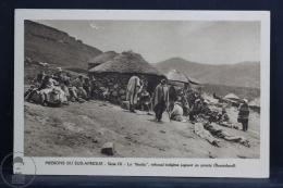 Old Africa Postcard - Algeria - Missions Du Sud - Afrique -Le Khotla - Tribunal Indigène, Jugeant Un Procés (Basutoland) - Otros
