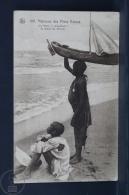 Old Africa Postcard - Missions Des Peres Blancs - Les Futurs Navigateurs Du Grand Lac African - Cartes Postales