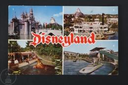 Vintage Disneyland Postcard - Sleeping Beauty´s Castle, Mark Twain, Jungle Cruise & Submarine Ride - Disneyland