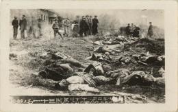 CHINE CARTE PHOTO MASSACRE MORTS Voir Scan De La Légende - Chine