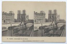 CPA Paris Stéréo Les Merveilleux Notre Dame  Vue Des Quais 11 - France
