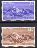 India 1953 Conquest Of Mount Everest Set Of 2, MNH (A) - Neufs