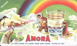 """21 AMORA La Moutarde De Dijon Dans Son Verre """" Givre Et Or """" - Alimentare"""