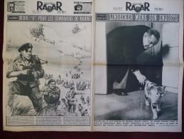 """RADAR - 8/04/1956 - Le Mystère De Royat, Lindecker Mène Son Enquète - Brest; Lancement Du """"Colbert"""" 1er Croiseur. (1014) - Zonder Classificatie"""