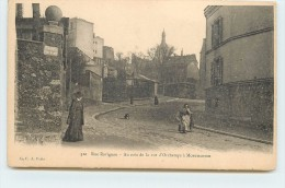 PARIS - Rue Ravignan, Au Coin De La Rue D'Orchamps à Montmartre. - Distretto: 18