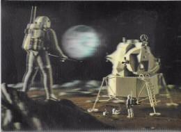 Carte Stéréoscopique 3D. Module Lunaire. - Cartoline Stereoscopiche